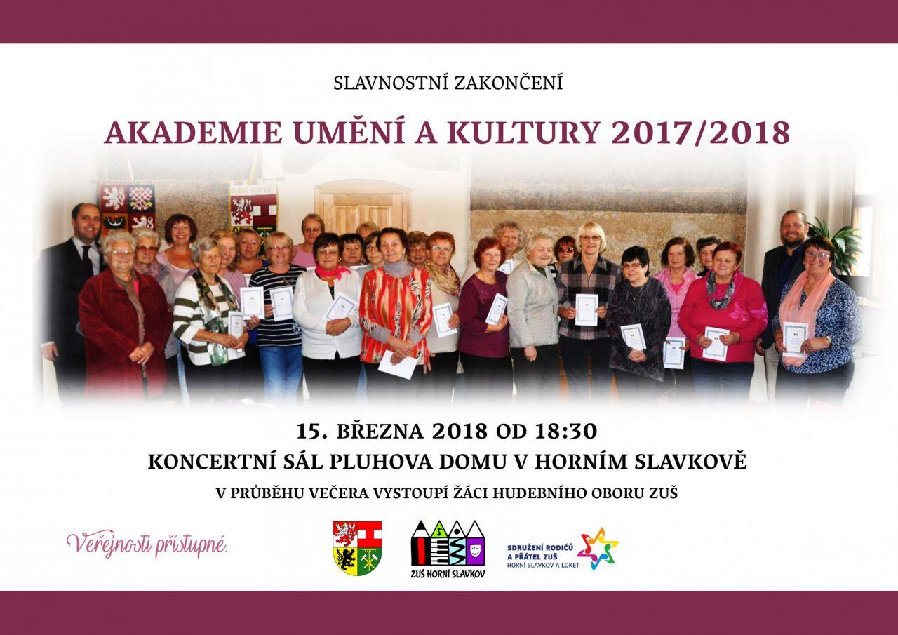 Slavnostní ukončení Akademie umění a kultury 2017/2018