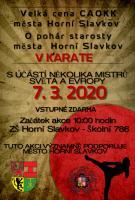 Velká cena CAOKK města Horní Slavkov v KARATE